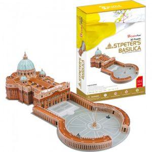 CubicFun Basilique Saint-Pierre de Rome - Puzzle 3D 144 pièces
