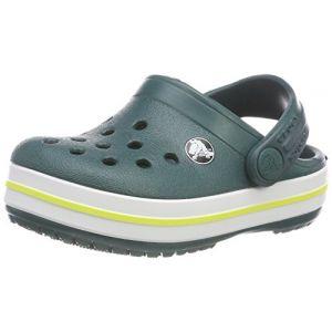 Crocs Crocband Clog Kids, Sabots Mixte Enfant, Vert (Evergreen) 25/26 EU