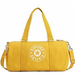 Kipling ONALO Cabas de fitness, 45 cm, 18 liters, Jaune (Lively Yellow)