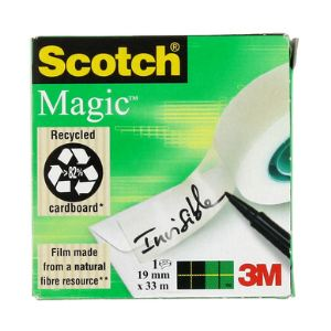 Scotch M8101933 - Rouleau adhésif Magic 810 invisible (19 mm x 33 m)