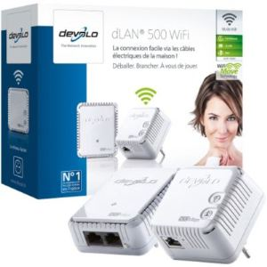Devolo 9084 - Starter kit de 2 adaptateurs CPL dLAN 500 WiFi Ethernet