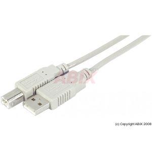 Dacomex 532000 - Cordon USB2 type AB M/M 1m
