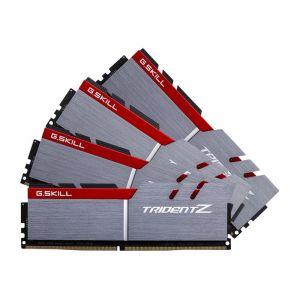 G.Skill F4-3400C16Q-32GTZ - Barrette mémoire Trident Z 32 Go (4x 8 Go) DDR4 3400 MHz CL16