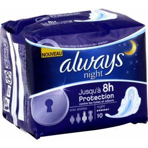 Always Ultra - 10 serviettes hygiéniques Nuit