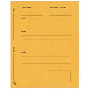 Exacompta 220109E - Paquet de 25 dossiers de plaidoirie Pour/Contre, en carte 265 g/m², coloris jaune