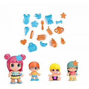 Famosa PINYPON - 1 Figurine et ses 3 Bébés + Accessoires