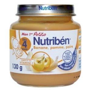 Nutribén Mon 1er Potito : Banane, pomme, poire 130g - dès 4 mois