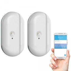Motorola Lot de 2 capteurs connecté avec alertes pour portes fenêtres Smart Nursery