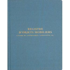 Exacompta Registre d'objets mobiliers garagistes 100 pages (240 x 320 mm)