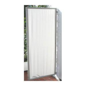 Pegane Paravent ext?rieur, int?rieur Gris Clair en polyester 140 g/m? anti-UV avec 1 panneau -Dim : 170 x 70 cm