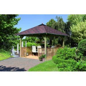 Karibu Cordoba - Pavillon de jardin carré 2,89 x 2,89 m