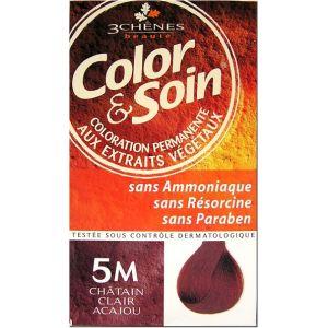 3 Chênes Color & Soin 5M châtain clair acajou - Coloration permanente
