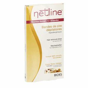 Laboratoires Bioes Netline - 20 bandes de cire dépilatoires corps