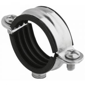 Plombelec Collier atlas simple isophonique en acier zingué dimensions filet et tube au choix-7x150-Ø32 boîte de 50