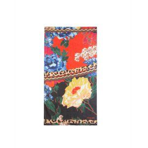 Desigual Foulard Day&Night à imprimé floral et imprimé animal Rouge