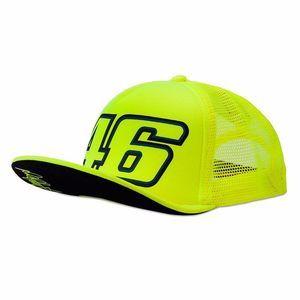 VR46 Casquette trucker Valentino Rossi jaune fluo 2017