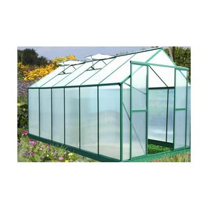 Foresta SR 4330 - Serre de jardin en aluminium et polycarbonate 12,80 m2 (montage inclus)