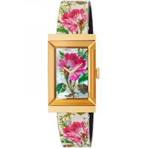 Gucci Montre Femme New G-frame Rose
