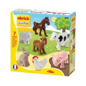 Ecoiffier Briques de construction Abrick : animaux de la ferme