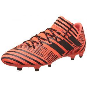 Adidas Nemeziz 17.3 FG, Chaussures de Football Homme, Blanc, Multicolore (Solar Orange/Core Black), 44 EU