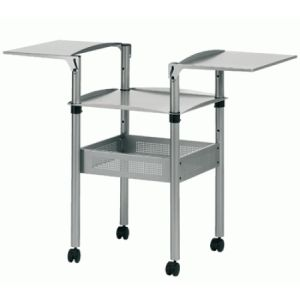 Nobo 1900787 - Table pour rétroprojecteur, avec 2 tablettes 49 x 32 cm