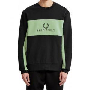 Fred Perry Pull Sweat black/green Noir - Taille EU S,EU M,EU L,EU XL