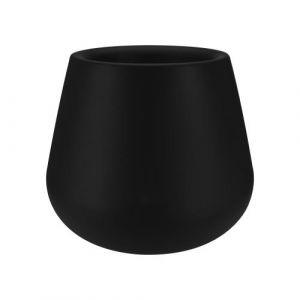 Elho Pot de fleur goutte en polyéthylène Pure - Noir - 45cm