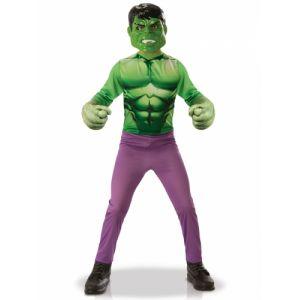 Rubie's Panoplie classique Hulk + gants taille M 5/6 ans - Marvel - Hulk