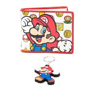 Portefeuille et porté clé Super Mario