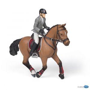 Papo Figurine cheval de concours et son cavalier