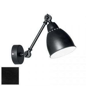 Ideal lux Applique murale en métal bras et abat jour réglable Newton - noir Diamètre 14 Hauteur 23 cm