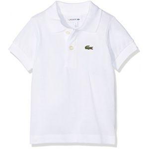 Lacoste Polo en coton piqué logotypé Blanc