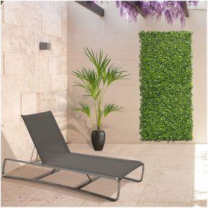 Nortene Panneau décoratif de feuillage synthétique VERTICAL JASMIN - Vert - 1 x 1 m