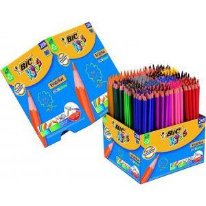 Bic Set crayons de couleurs triangulaires Evolution 288 pièces