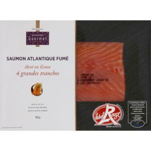 Monoprix gourmet Saumon Atlantique fumé, élevé en Ecosse - Les 4 tranches, 160g