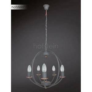 Wofi Suspension 5 lampes design Valetta Gris Métal 5440.05.50.6000