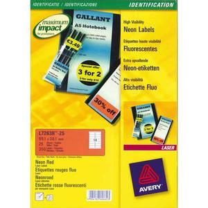 Avery-Zweckform 25 étiquettes enlevables laser 210 x 297 mm