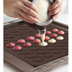 Lékué Tapis à macaron en silicone avec empreintes