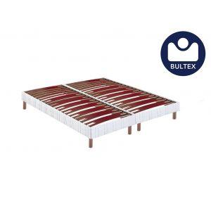 Bultex Sommier confort morphologique bi-lattes 14 cm pieds 2x80x200
