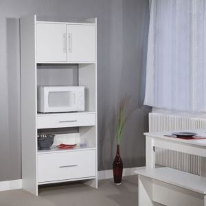 Desserte Microondes Haute Valy Portes Tiroirs With Four A Micro Onde  Conforama