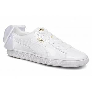 Puma Chaussures WN SUEDE BOW PATENT.WHITE