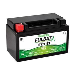 Fulbat Batterie moto Gel YTX7A-BS / FTX7A-BS 12V 6Ah