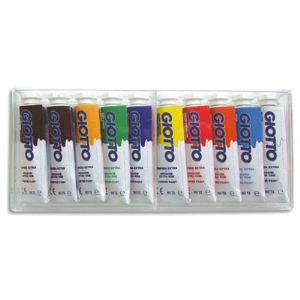 Giotto Boîte cristal de 10 tubes gouache extra-fine (10 x 10 ml)
