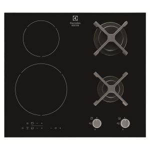 Electrolux EGD6576 - Table de cuisson mixte (gaz et induction) 4 foyers