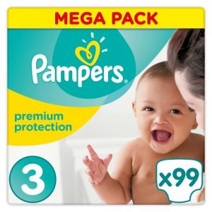 Pampers Premium Protection taille 3 (5-9 kg) - 99 couches