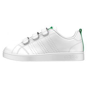 Adidas VS Advantage Clean, Baskets Mixte Enfant, Blanc (Footwear White/Footwear White/Green 0), 32 EU
