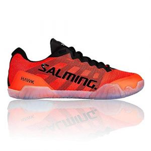 Salming Baskets Hawk - Black / Lava Red - Taille EU 44 2/3