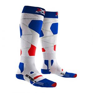 X-Socks Chaussettes Ski Patriot 4.0 France Homme, Bleu/Blanc/Rouge, FR Taille Fabricant : XL(45-47)