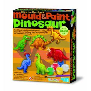 4M - Kidz Labs Kit de moulage : Dinosaures phosphorescents