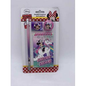Set de papeterie 4 pcs Minnie Mouse Unicorn